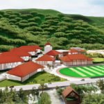Architect's drawing of a new Charlotte Amalie High School. (By the DLR Group)