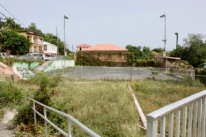Savan Playground and Park has been left unmaintained and is overgrown with weeds. (Source photo Bethaney Lee)