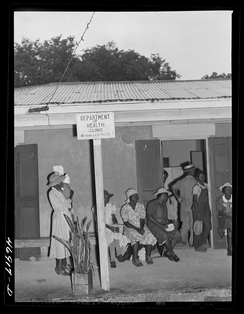 A public health clinic circa 1941 near Frederiksted on St. Croix